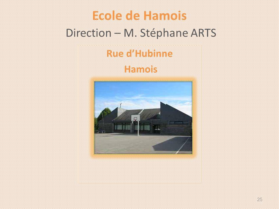 Ecole de Hamois Direction – M. Stéphane ARTS