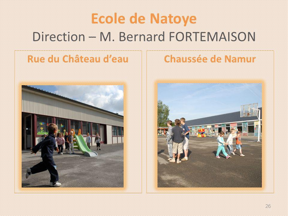 Ecole de Natoye Direction – M. Bernard FORTEMAISON