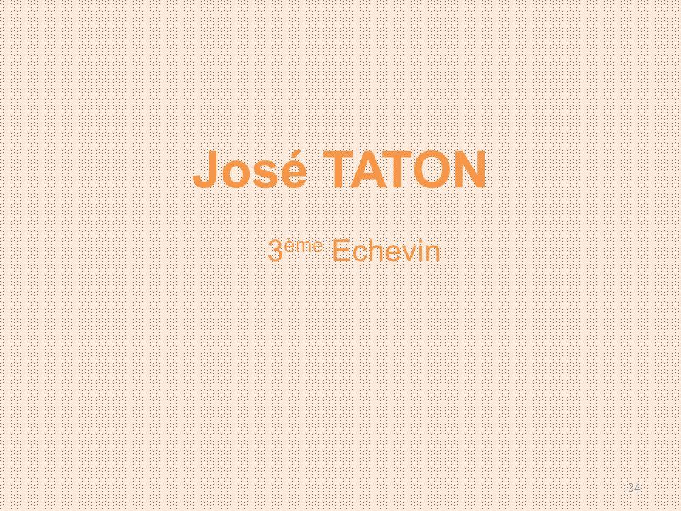 José TATON 3ème Echevin