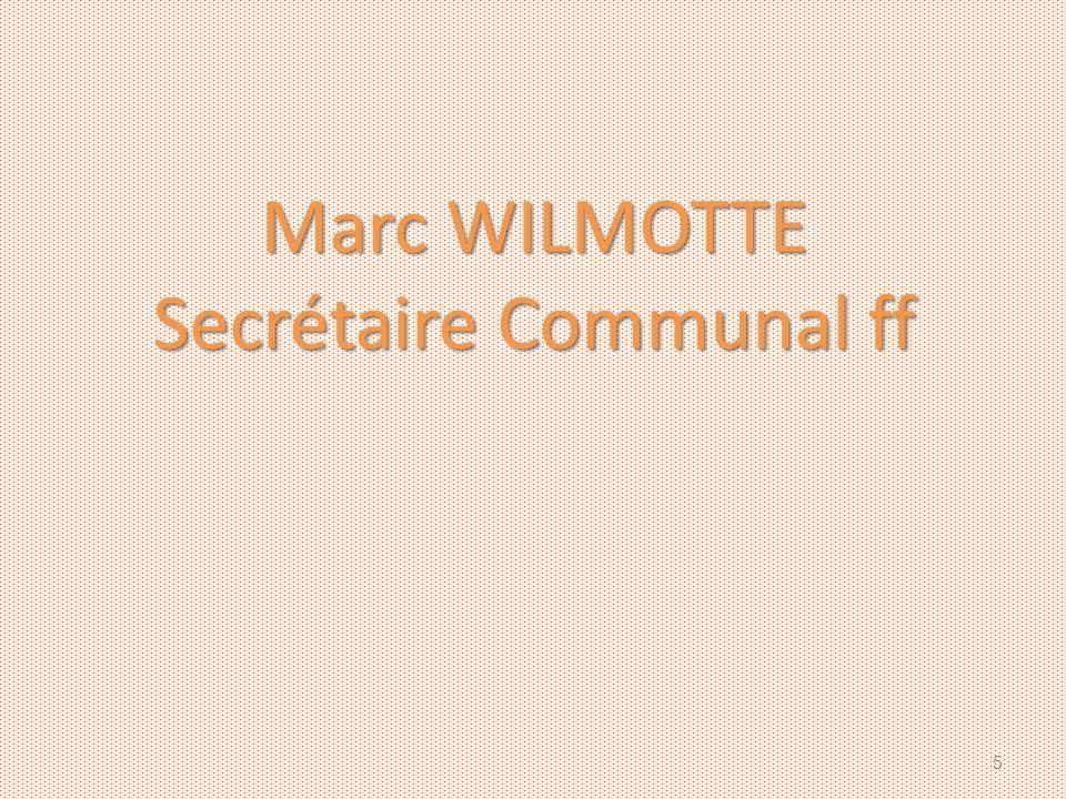 Secrétaire Communal ff