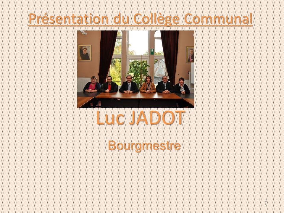 Présentation du Collège Communal