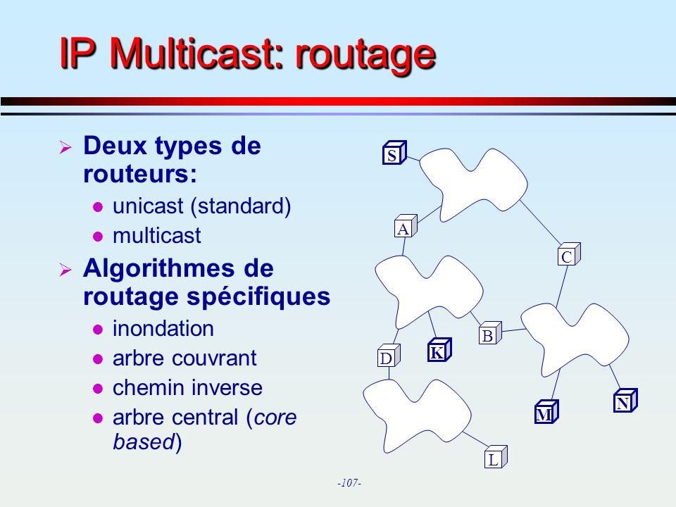 IP Multicast: routage Deux types de routeurs: