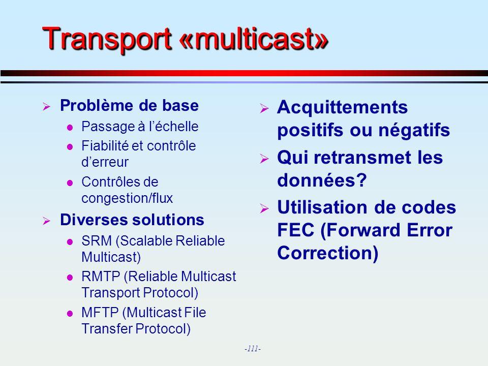 Transport «multicast»