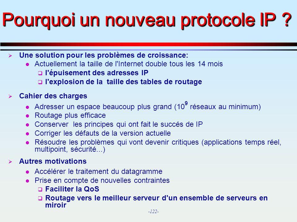 Pourquoi un nouveau protocole IP