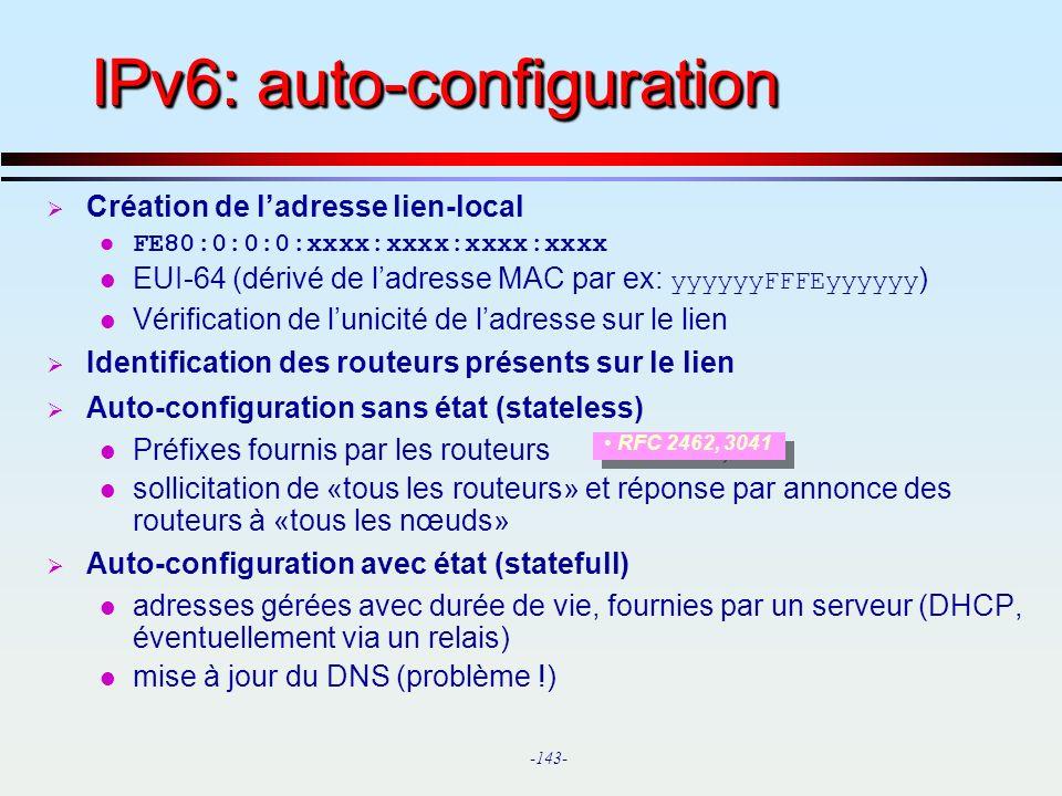 IPv6: auto-configuration