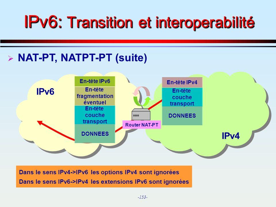IPv6: Transition et interoperabilité