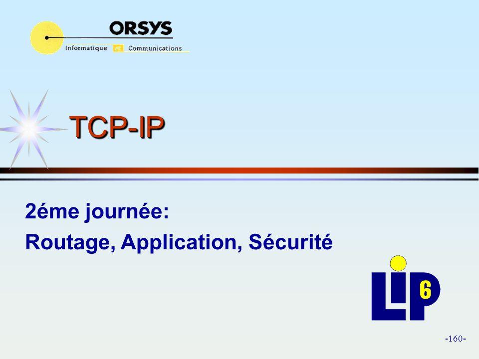 TCP-IP 2éme journée: Routage, Application, Sécurité