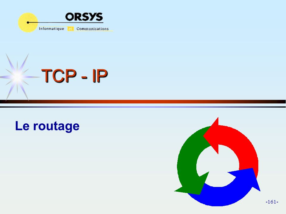 TCP - IP Le routage