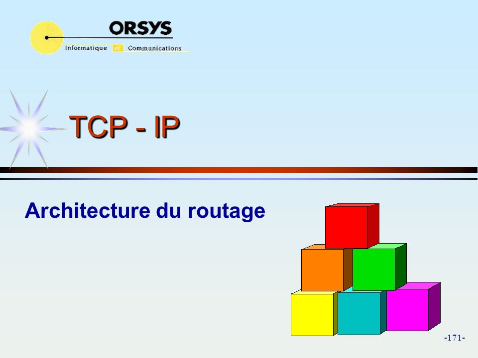 Architecture du routage