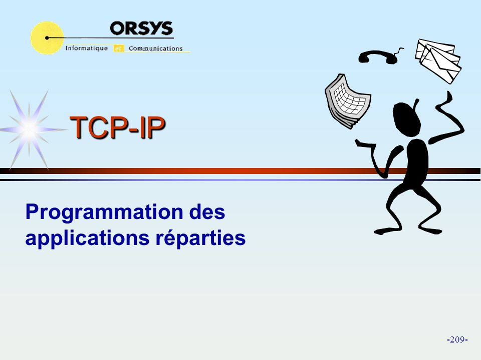 Programmation des applications réparties