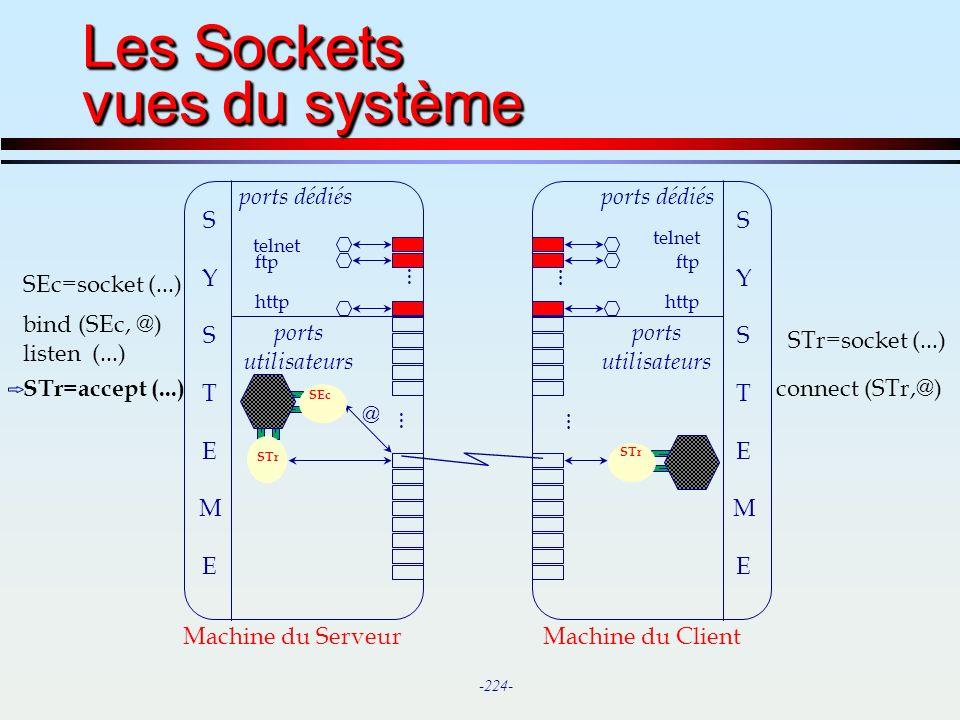 Les Sockets vues du système