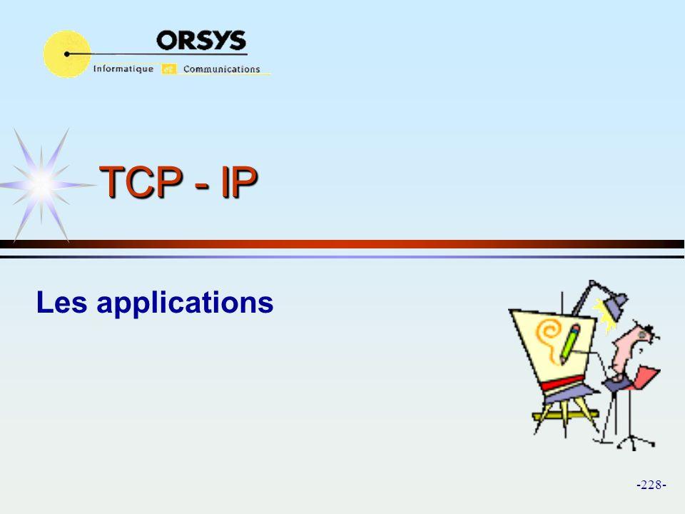 TCP - IP Les applications