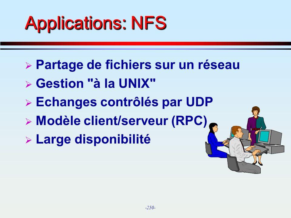 Applications: NFS Partage de fichiers sur un réseau