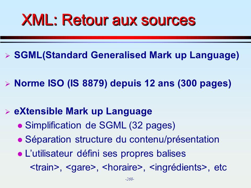 XML: Retour aux sources