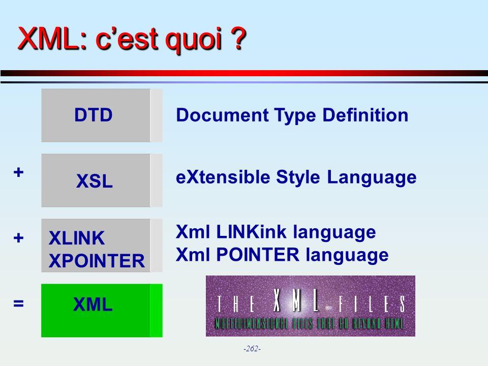 XML: c'est quoi DTD Document Type Definition +