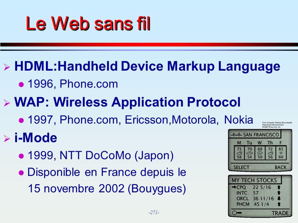 Le Web sans fil HDML:Handheld Device Markup Language