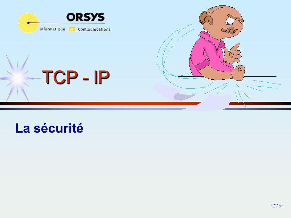 TCP - IP La sécurité