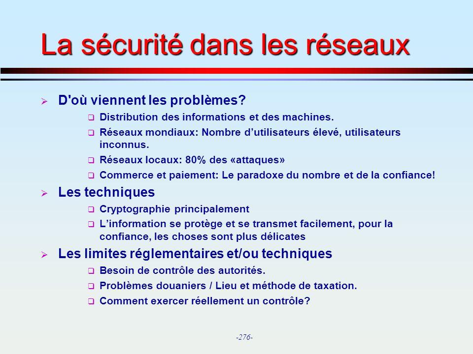 La sécurité dans les réseaux