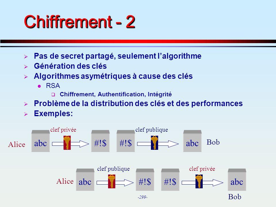 Chiffrement - 2 abc #!$ #!$ abc abc #!$ #!$ abc
