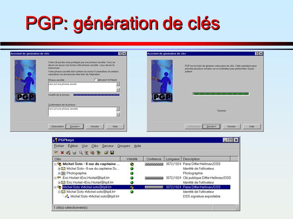PGP: génération de clés