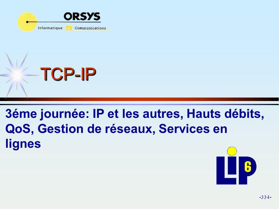 TCP-IP 3éme journée: IP et les autres, Hauts débits, QoS, Gestion de réseaux, Services en lignes