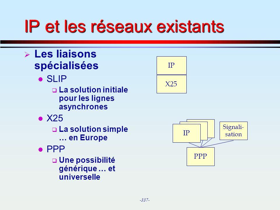 IP et les réseaux existants