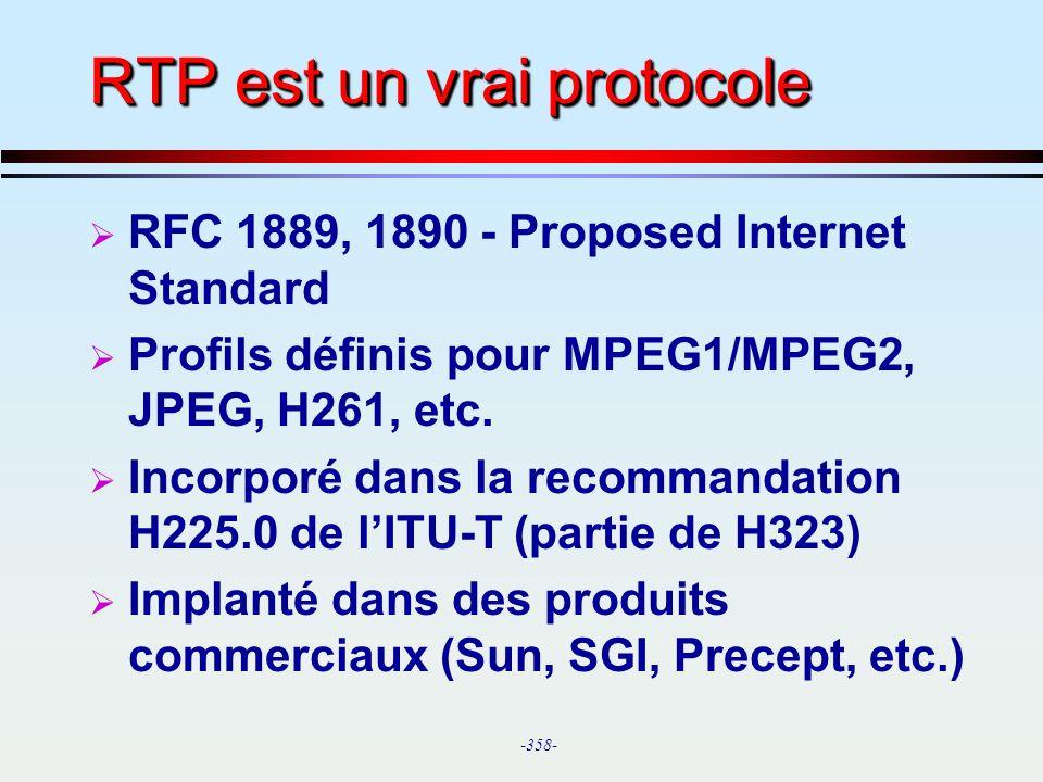 RTP est un vrai protocole