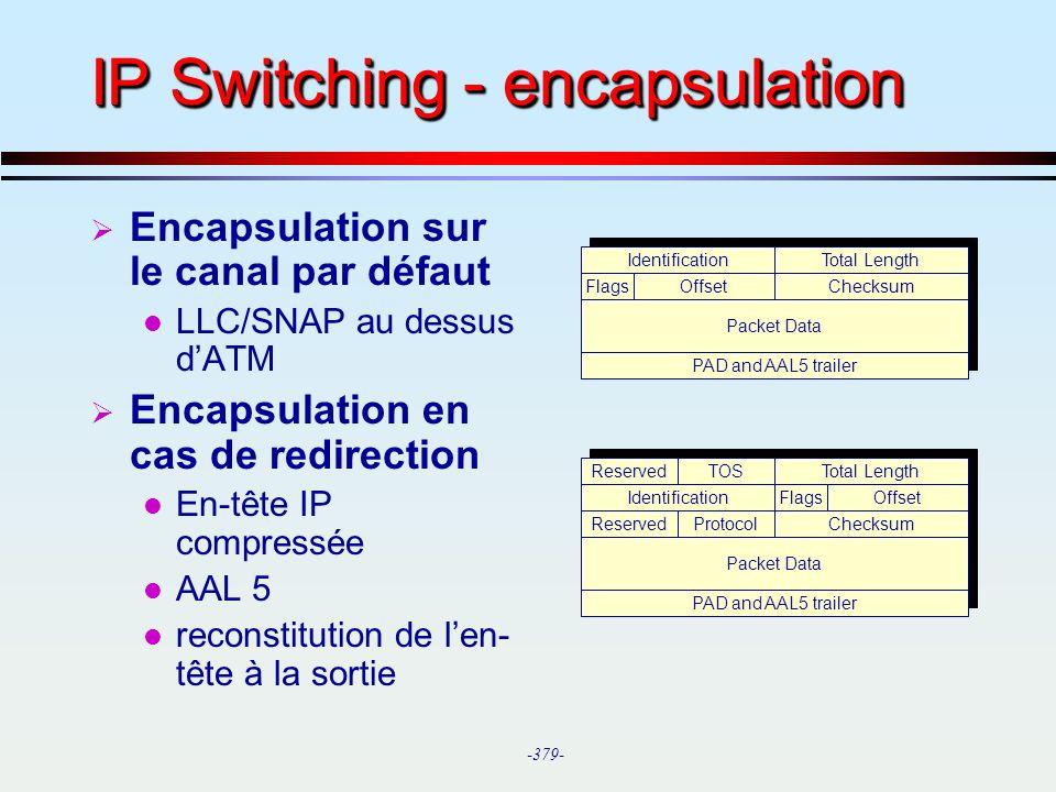 IP Switching - encapsulation