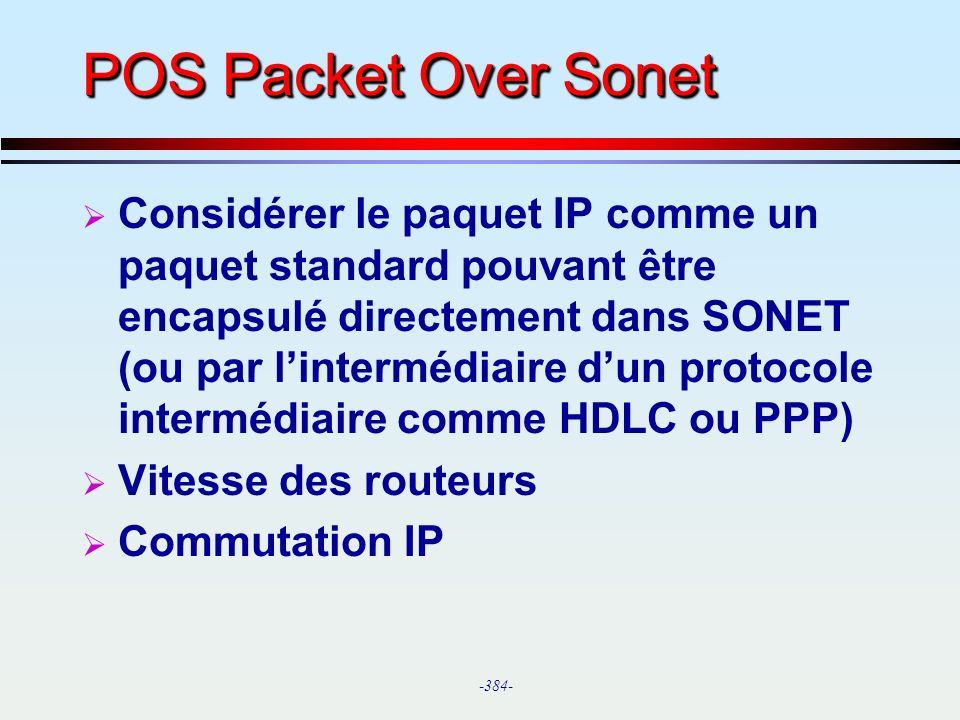 POS Packet Over Sonet