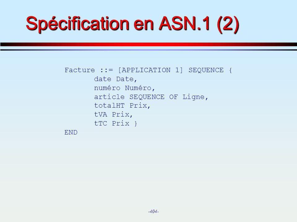 Spécification en ASN.1 (2)