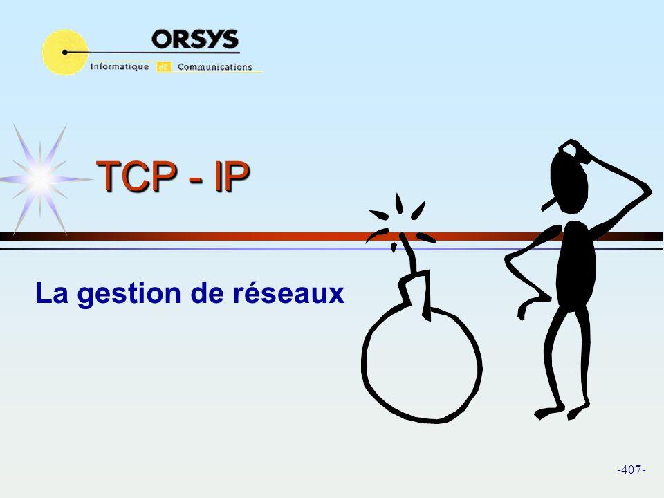 TCP - IP La gestion de réseaux