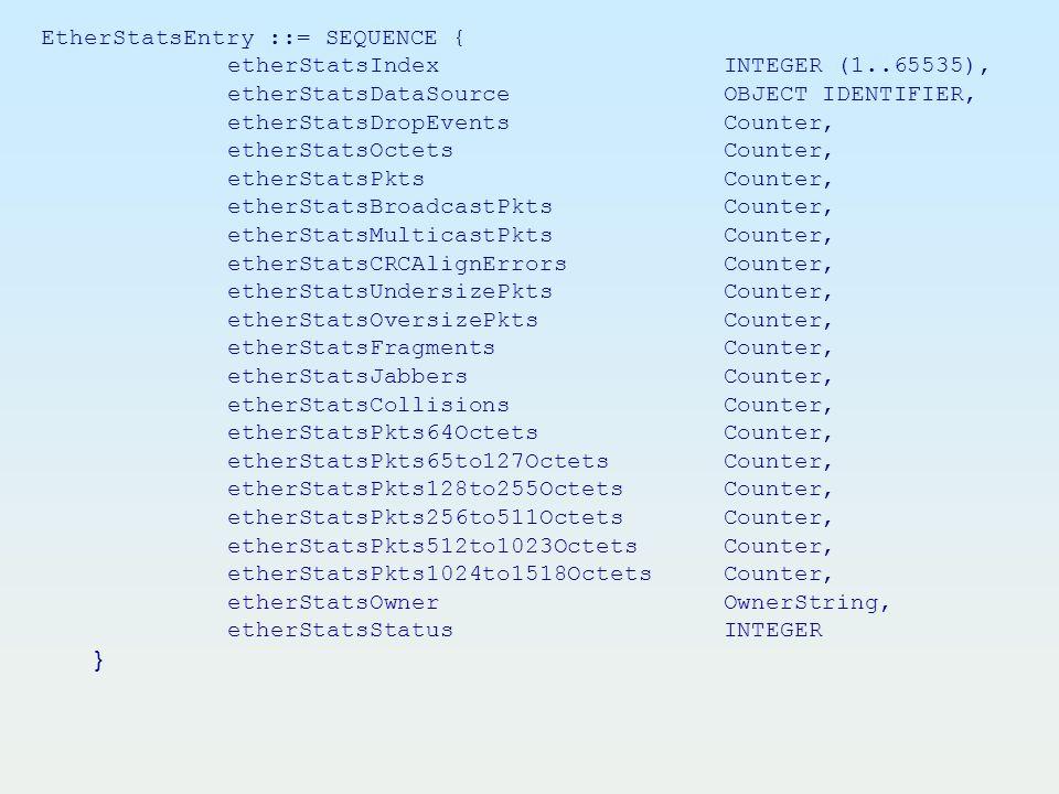 etherStatsIndex INTEGER (1..65535),