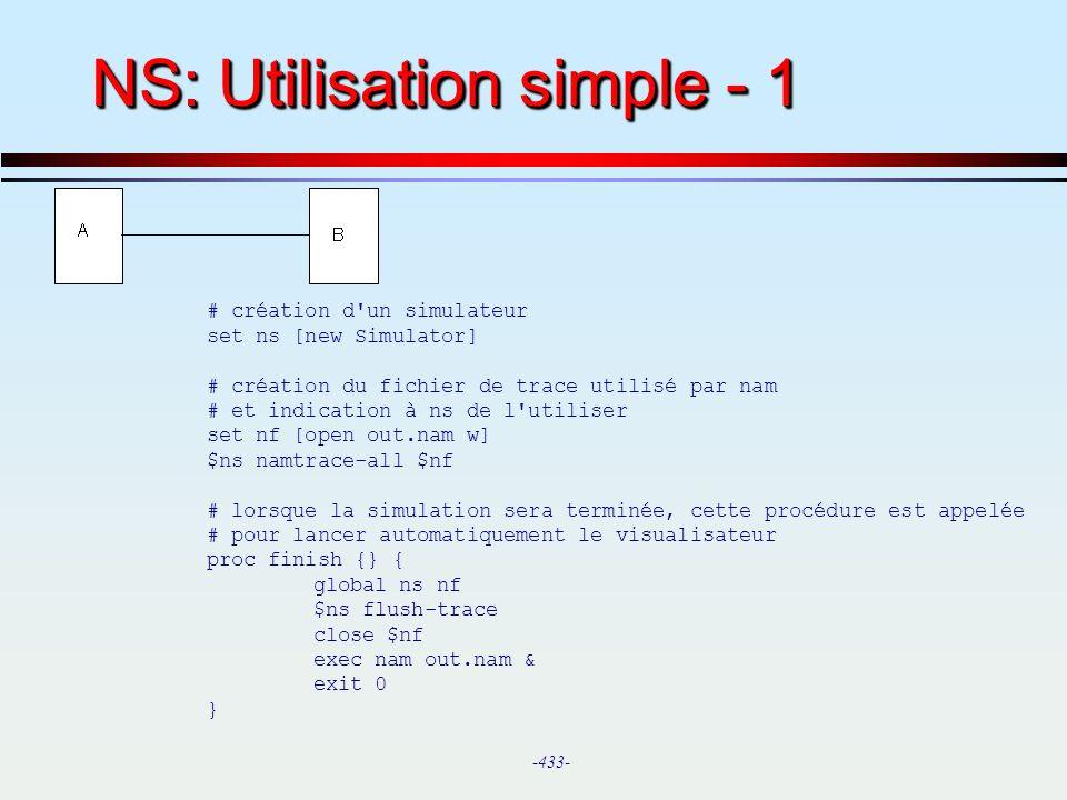NS: Utilisation simple - 1