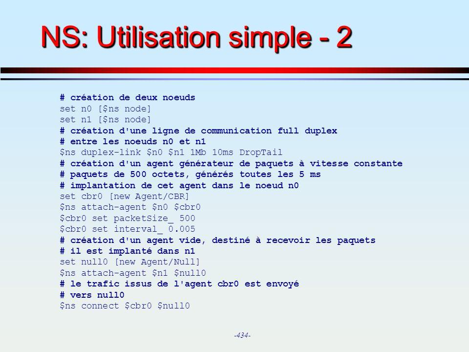 NS: Utilisation simple - 2