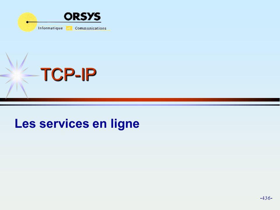 TCP-IP Les services en ligne