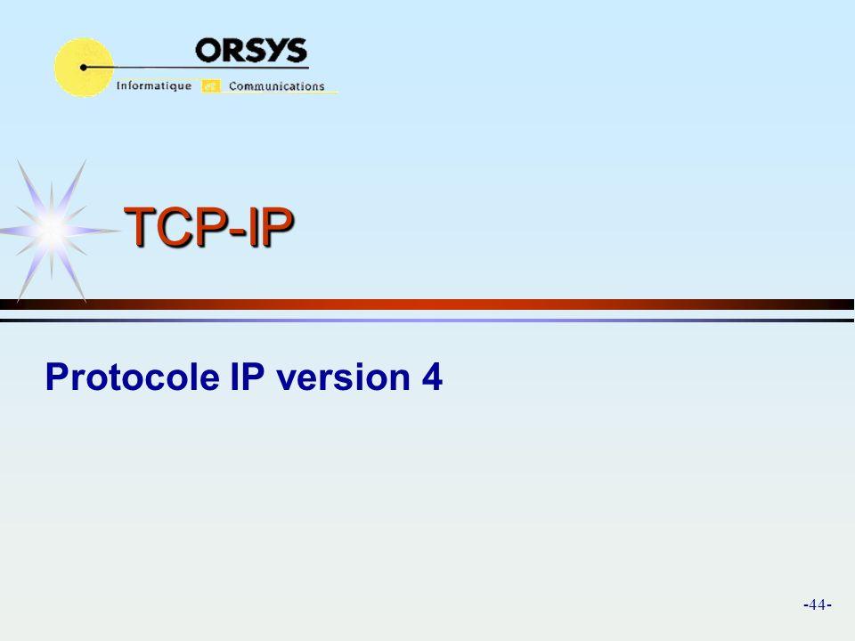 TCP-IP Protocole IP version 4