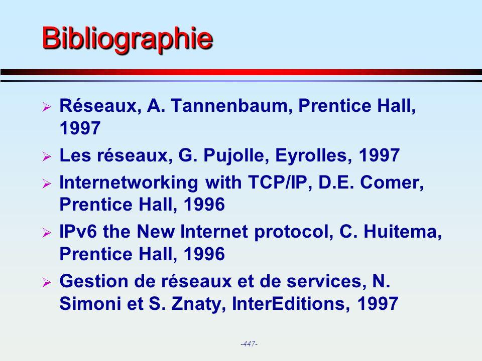 Bibliographie Réseaux, A. Tannenbaum, Prentice Hall, 1997