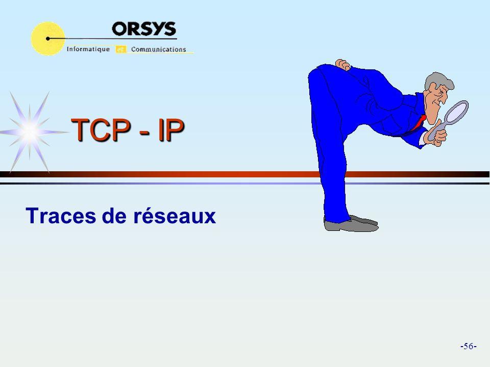 TCP - IP Traces de réseaux