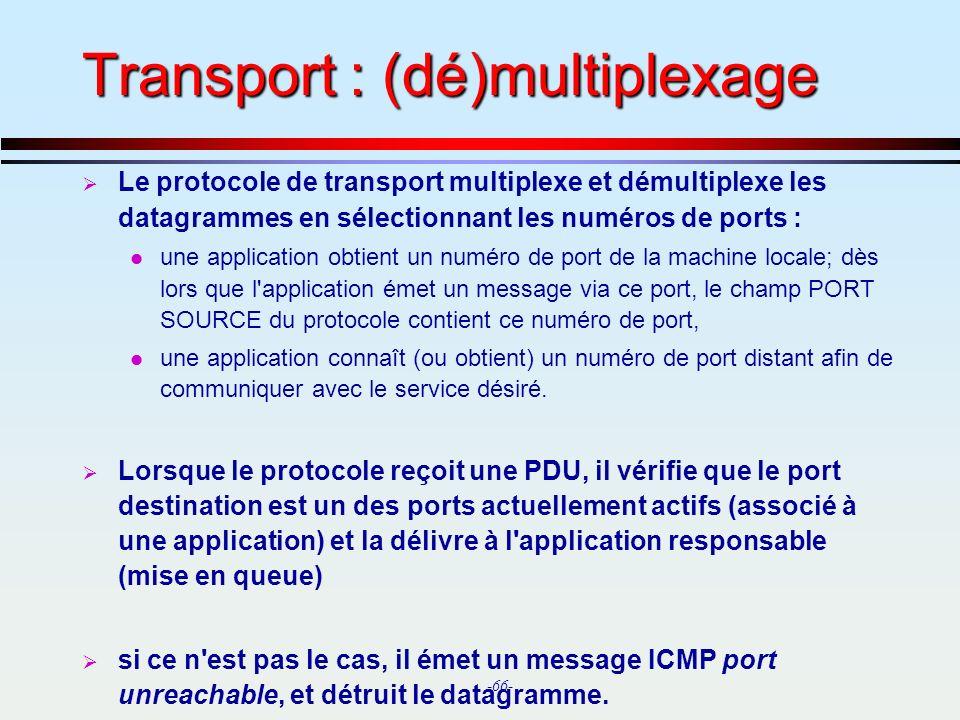 Transport : (dé)multiplexage