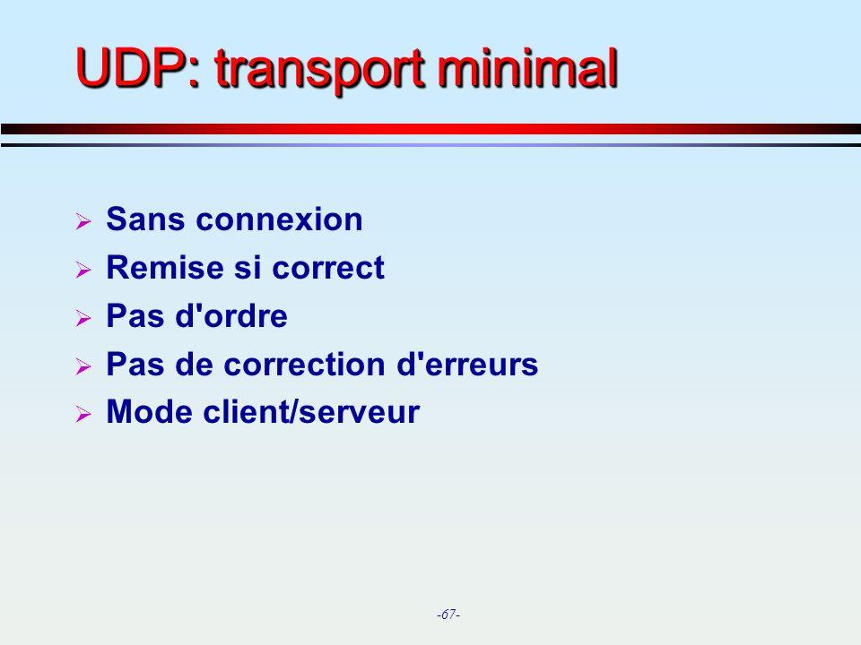 UDP: transport minimal