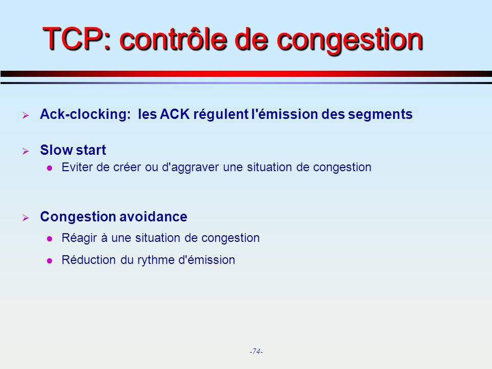 TCP: contrôle de congestion
