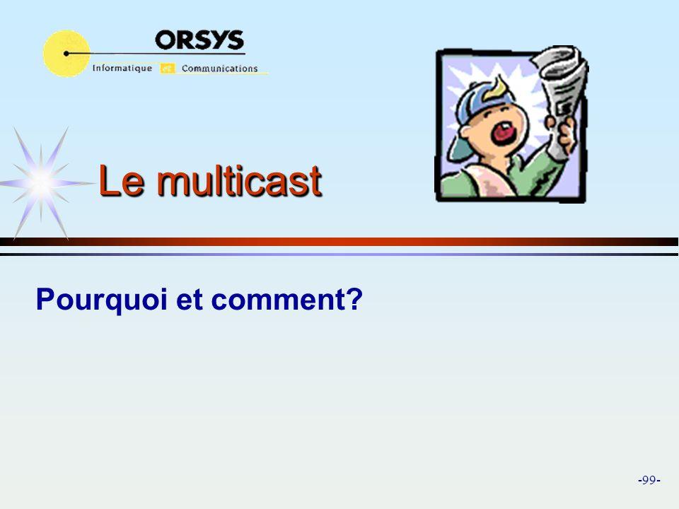 Le multicast Pourquoi et comment