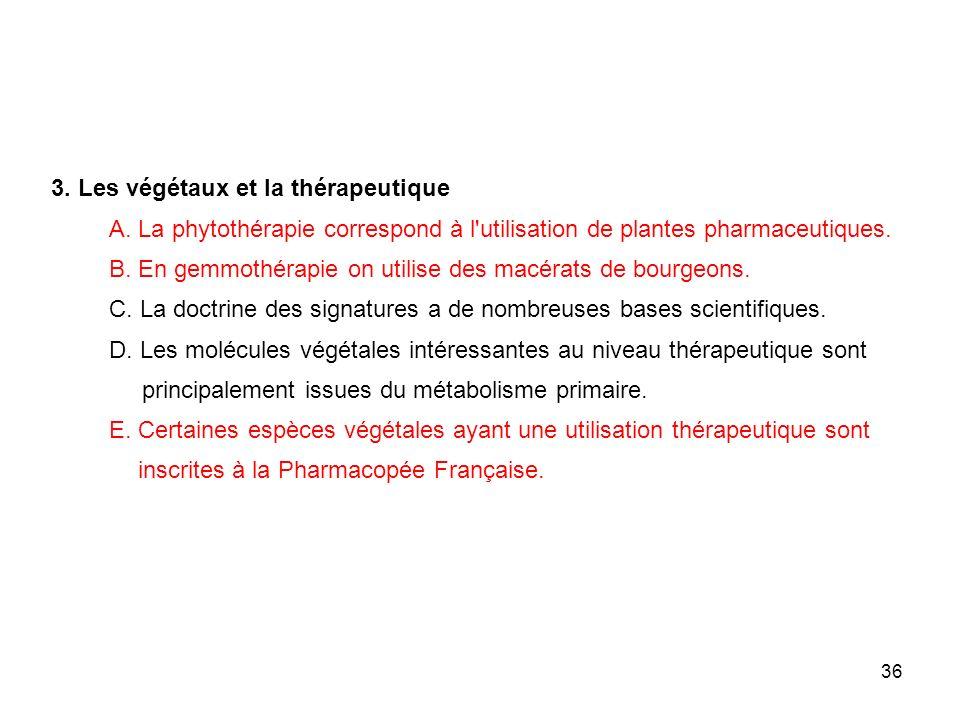 3. Les végétaux et la thérapeutique