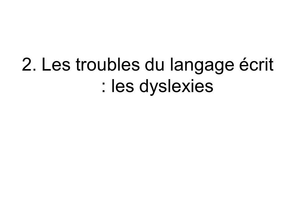 Les troubles du langage écrit : les dyslexies