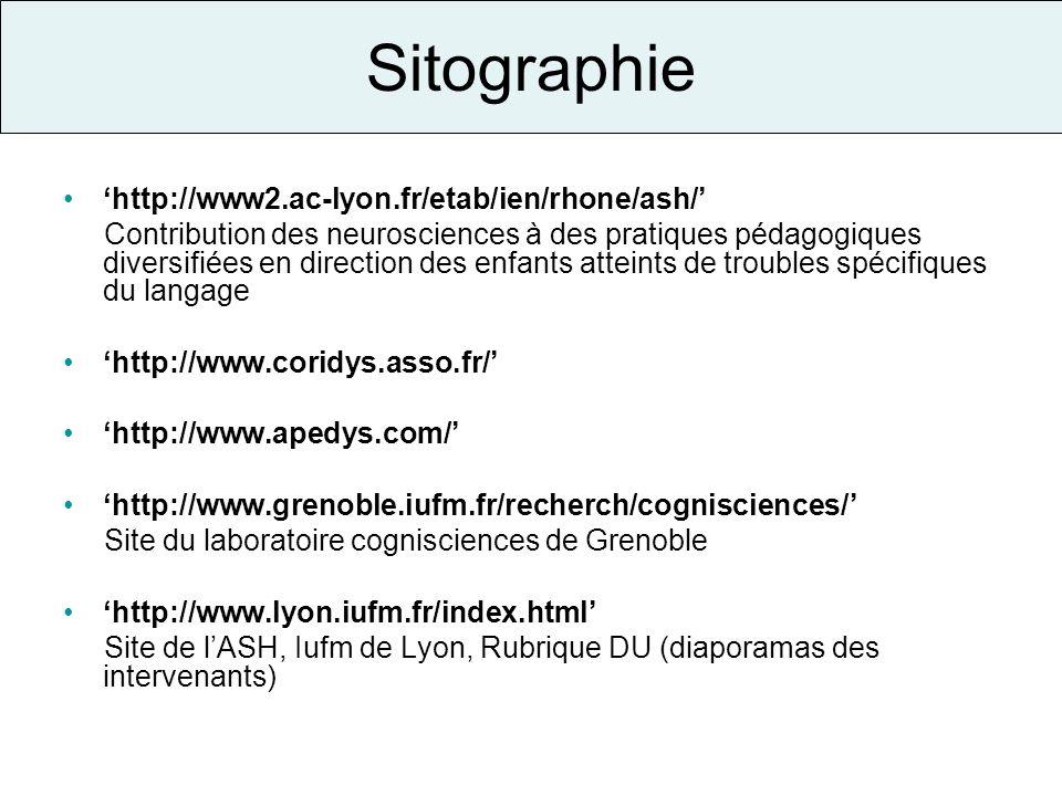 Sitographie 'http://www2.ac-lyon.fr/etab/ien/rhone/ash/'