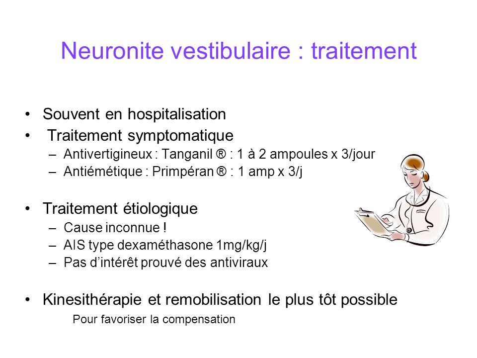 Neuronite vestibulaire : traitement