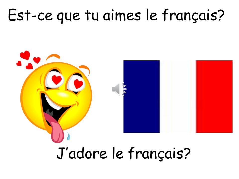 Est-ce que tu aimes le français
