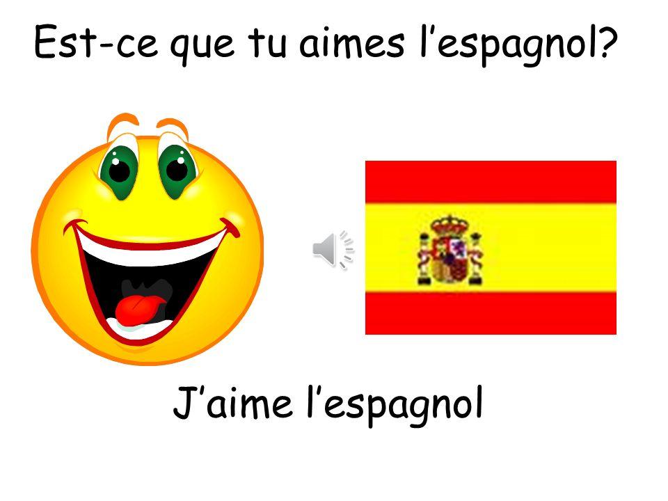 Est-ce que tu aimes l'espagnol