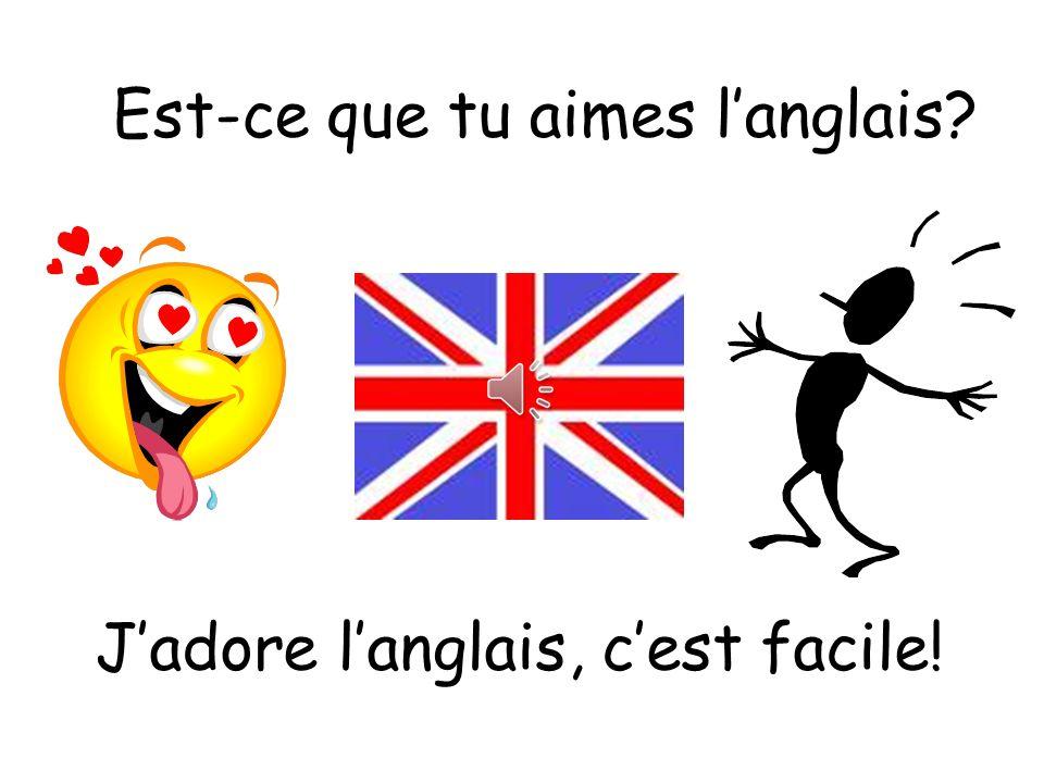 Est-ce que tu aimes l'anglais