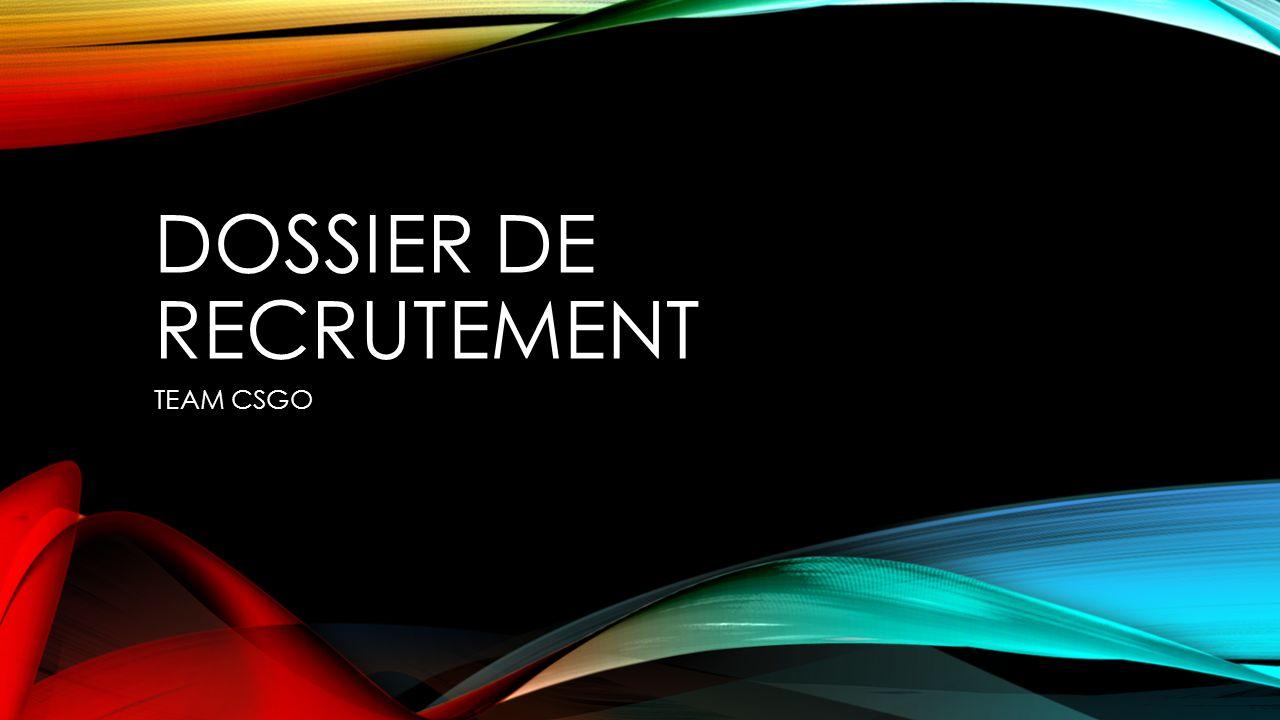 Dossier de recrutement